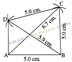 RBSE Solutions for Class 8 Maths Chapter 7 Construction of Quadrilaterals Ex 7.2 img-8