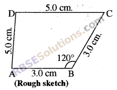 RBSE Solutions for Class 8 Maths Chapter 7 Construction of Quadrilaterals Ex 7.3 img-1