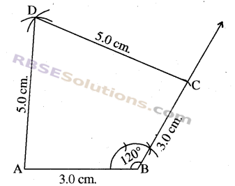 RBSE Solutions for Class 8 Maths Chapter 7 Construction of Quadrilaterals Ex 7.3 img-2