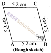 RBSE Solutions for Class 8 Maths Chapter 7 Construction of Quadrilaterals Ex 7.3 img-7