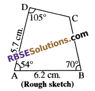 RBSE Solutions for Class 8 Maths Chapter 7 Construction of Quadrilaterals Ex 7.5 img-3