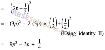 RBSE Solutions for Class 8 Maths Chapter 9 Algebraic ExpressionsEx 9.3 img-1