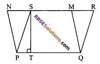 RBSE Solutions for Class 9 Maths Chapter 10 Area of Triangles and Quadrilaterals Additional Questions - 15
