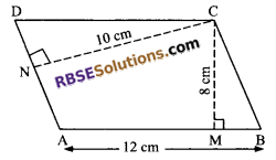 RBSE Solutions for Class 9 Maths Chapter 10 Area of Triangles and Quadrilaterals Additional Questions - 8