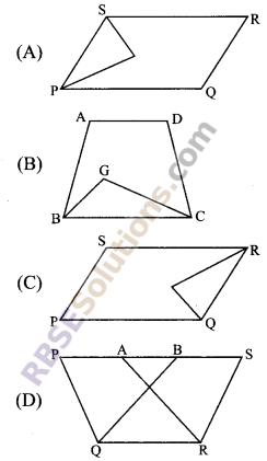 RBSE Solutions for Class 9 Maths Chapter 10 Area of Triangles and Quadrilaterals Miscellaneous Exercise - 1