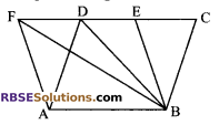 RBSE Solutions for Class 9 Maths Chapter 10 Area of Triangles and Quadrilaterals Miscellaneous Exercise - 10
