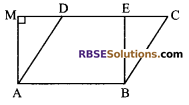 RBSE Solutions for Class 9 Maths Chapter 10 Area of Triangles and Quadrilaterals Miscellaneous Exercise - 4