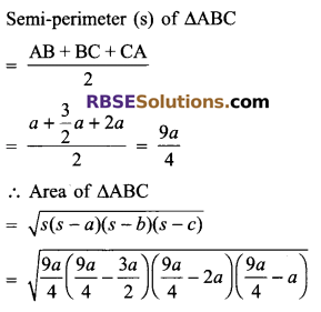 RBSE Solutions for Class 9 Maths Chapter 11 Area of Plane Figures Additional Questions - 11
