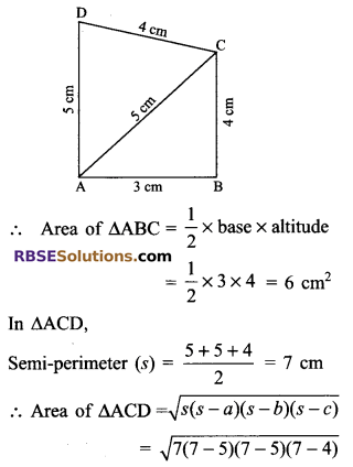 RBSE Solutions for Class 9 Maths Chapter 11 Area of Plane Figures Additional Questions - 16