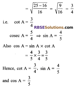RBSE Solutions for Class 9 Maths Chapter 14 Trigonometric Ratios of Acute Angles Ex 14.2 - 2