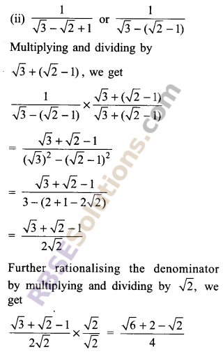 RBSE Solutions for Class 9 Maths Chapter 2 Number System Additional Questions 31