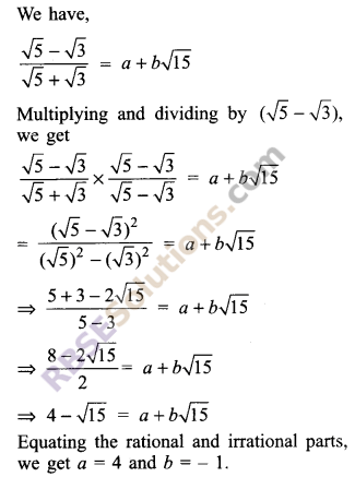 RBSE Solutions for Class 9 Maths Chapter 2 Number System Additional Questions 36