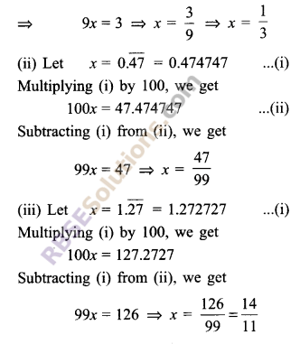 RBSE Solutions for Class 9 Maths Chapter 2 Number System Ex 2.1 9