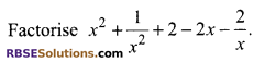 RBSE Solutions for Class 9 Maths Chapter 3 Polynomial Additional Questions 12