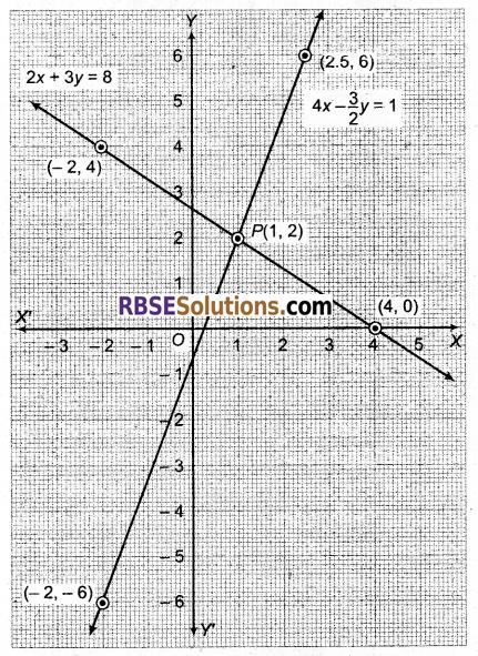 RBSE Solutions for Class 9 Maths Chapter 4 दो चरों वाले रैखिक समीकरण Ex 4.1 Q28