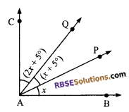 RBSE Solutions for Class 9 Maths Chapter 5 Plane Geometry and Line and Angle Additional Questions 18