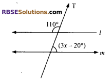 RBSE Solutions for Class 9 Maths Chapter 5 Plane Geometry and Line and Angle Additional Questions 6