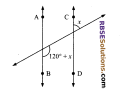RBSE Solutions for Class 9 Maths Chapter 5 Plane Geometry and Line and Angle Additional Questions 7