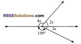 RBSE Solutions for Class 9 Maths Chapter 5 Plane Geometry and Line and Angle Additional Questions 8