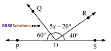 RBSE Solutions for Class 9 Maths Chapter 5 Plane Geometry and Line and Angle Additional Questions 9
