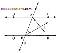 RBSE Solutions for Class 9 Maths Chapter 5 Plane Geometry and Line and Angle Ex 5.2 9