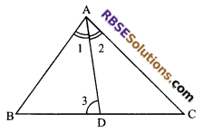 RBSE Solutions for Class 9 Maths Chapter 7 Congruence and Inequalities of Triangles Miscellaneous Exercise 22