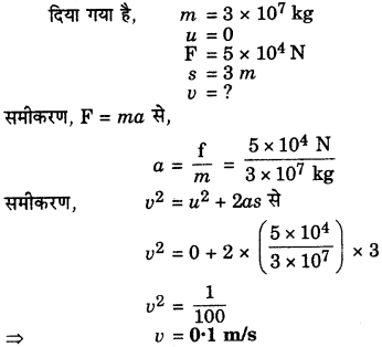 RBSE Solutions for Class 9 Science Chapter 9 बल और गति 26