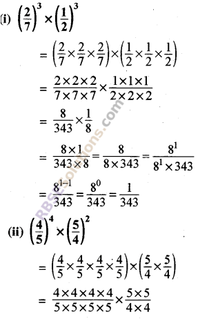 Rajasthan Board RBSE Class 8 Maths Chapter 3 Powers and Exponents Ex 3.1 2