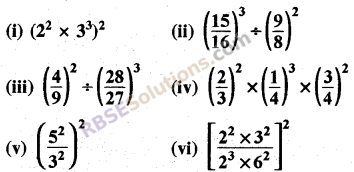 Rajasthan Board RBSE Class 8 Maths Chapter 3 Powers and Exponents Ex 3.1 20