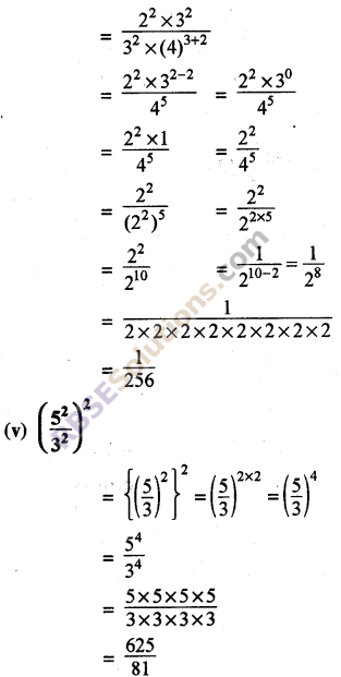 Rajasthan Board RBSE Class 8 Maths Chapter 3 Powers and Exponents Ex 3.1 24
