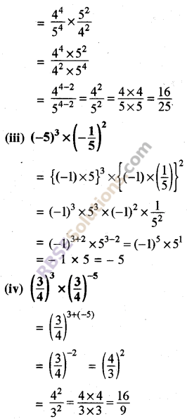 Rajasthan Board RBSE Class 8 Maths Chapter 3 Powers and Exponents Ex 3.1 3