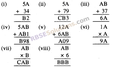 Rajasthan Board RBSE Class 8 Maths Chapter 4 Mental Exercises Exercise 4.2 1