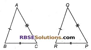 RBSE Solutions for Class 9 Maths Chapter 7 त्रिभुजों की सर्वांगसमता एवं असमिकाएँ Miscellaneous Exercise 1