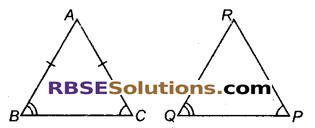 RBSE Solutions for Class 9 Maths Chapter 7 त्रिभुजों की सर्वांगसमता एवं असमिकाएँ Miscellaneous Exercise 7